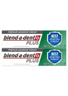 BLEND-A-DENT Dual Protection Plus protēžu līme, 40 g + 1
