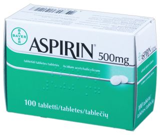 ASPIRIN 500 mg tabletes, 100 gb.