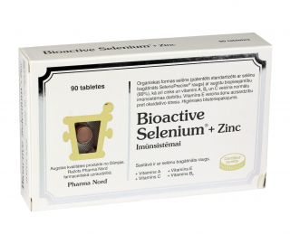 BIOACTIVE SELENIUM + ZINC tabletes, 90 gb.