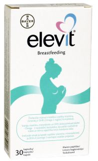 ELEVIT BREASTFEEDING kapsulas, 30 gb.
