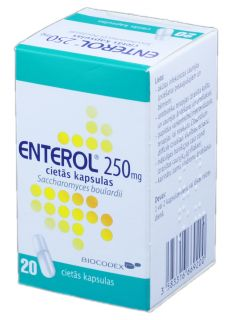 ENTEROL 250 mg kapsulas, 20 gb.