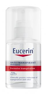 EUCERIN Intensive Spray antiperspirants jutīgai ādai, 30ml