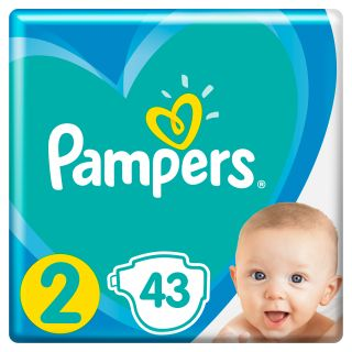 PAMPERS New Baby 2 Mini autiņbiksītes, 4 - 8 kg, 43 kg.