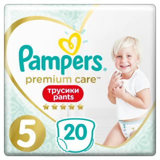 PAMPERS Pants Premium Care 5 Junior autiņbiksītes, 11-18 kg, 20 gb.
