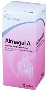 ALMAGEL A suspensija, 170 ml