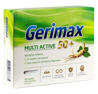 GERIMAX Multi Active tabletes, 60 gab.