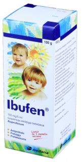 IBUFEN 100 mg/5 ml suspensija, 100ml