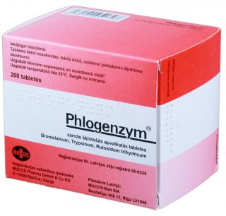 PHLOGENZYM tabletes, 200 gb.