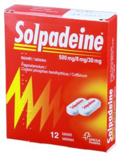 SOLPHADEINE tabletes, 12 gb.