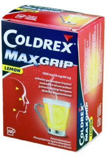 COLDREX MAXGRIP LEMON pulveris, 10 gb.